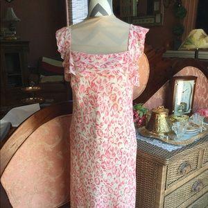 Silk dress re-posh (to big) 10$
